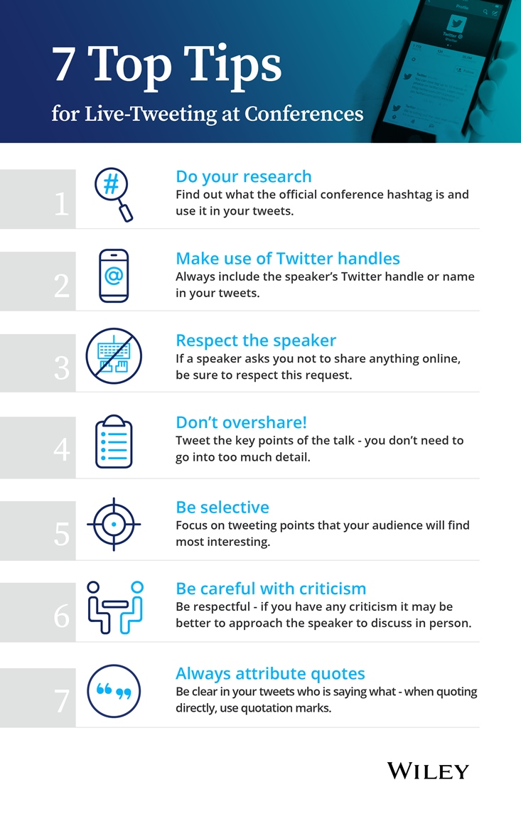 7 Top Tips for live-tweeting conferences